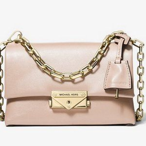 Cece Extra-Small Leather Crossbody Bag Soft Pink